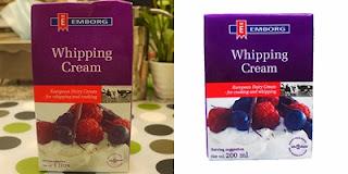 Whipping cream