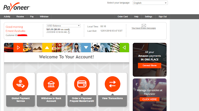 Payoneer affiliate $25 Free Money