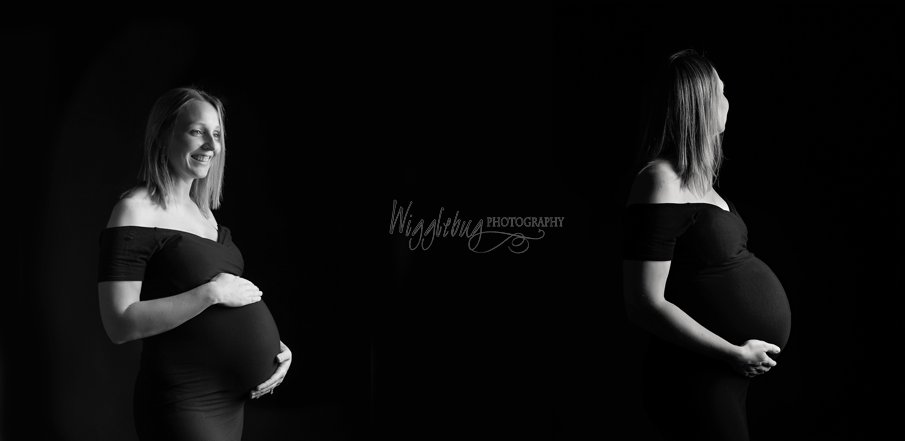 Studio Maternity Session in DeKalb IL at Wigglebug Photography Sycamore, IL Newborn Photographer