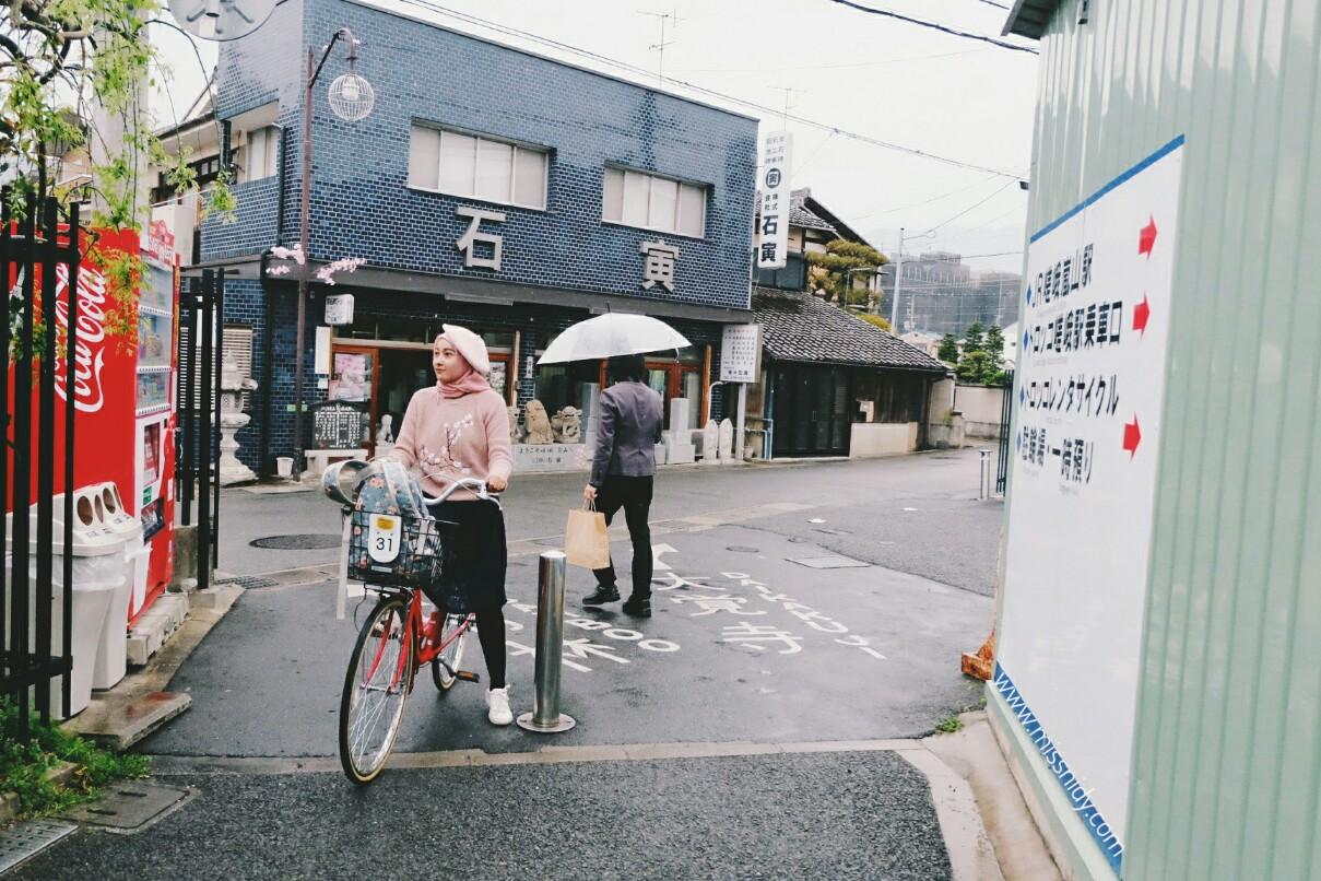 pengalaman sewa sepeda di arashiyama