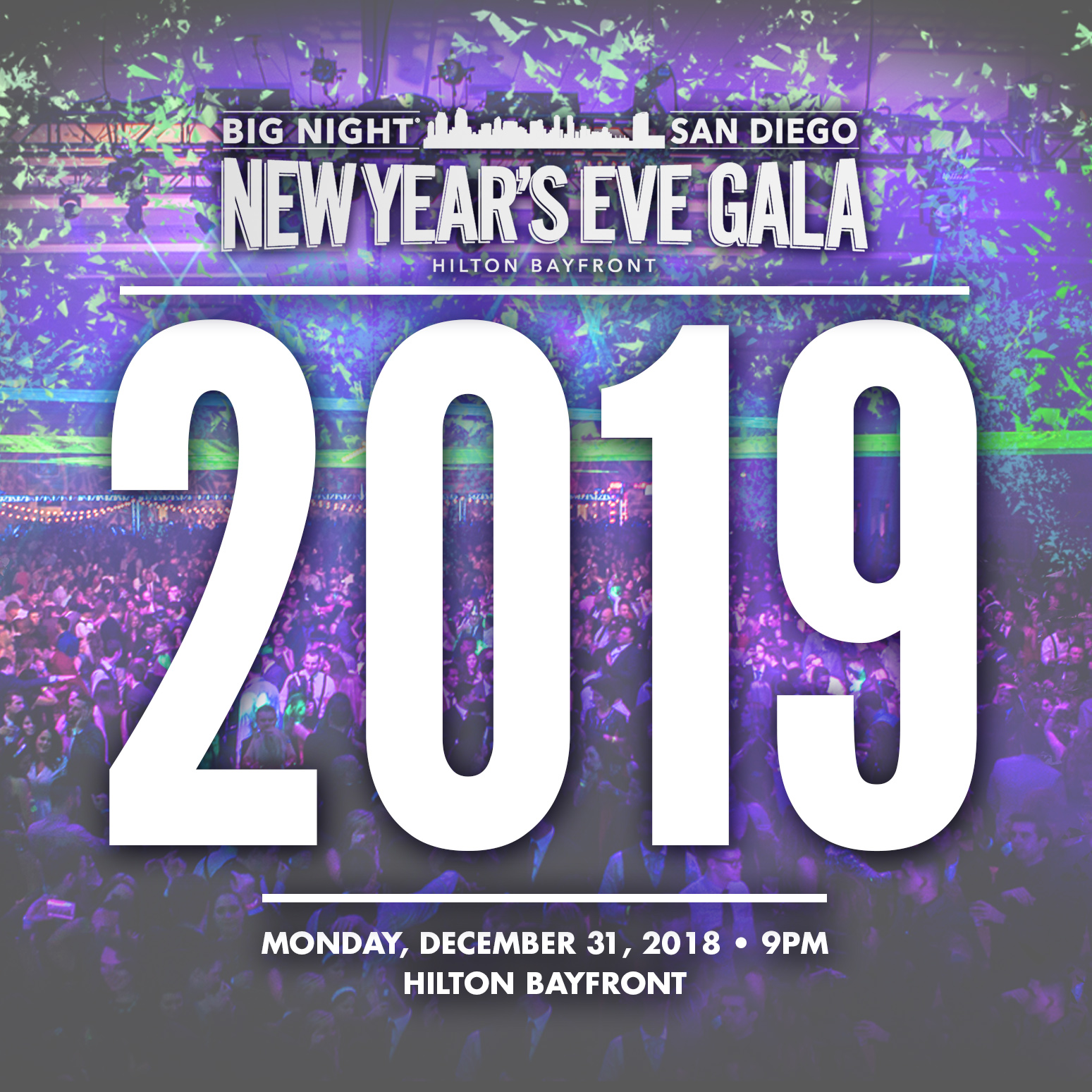 Save on passes & Enter to win tickets to the all-inclusive Big Night San Diego NYE Celebration!