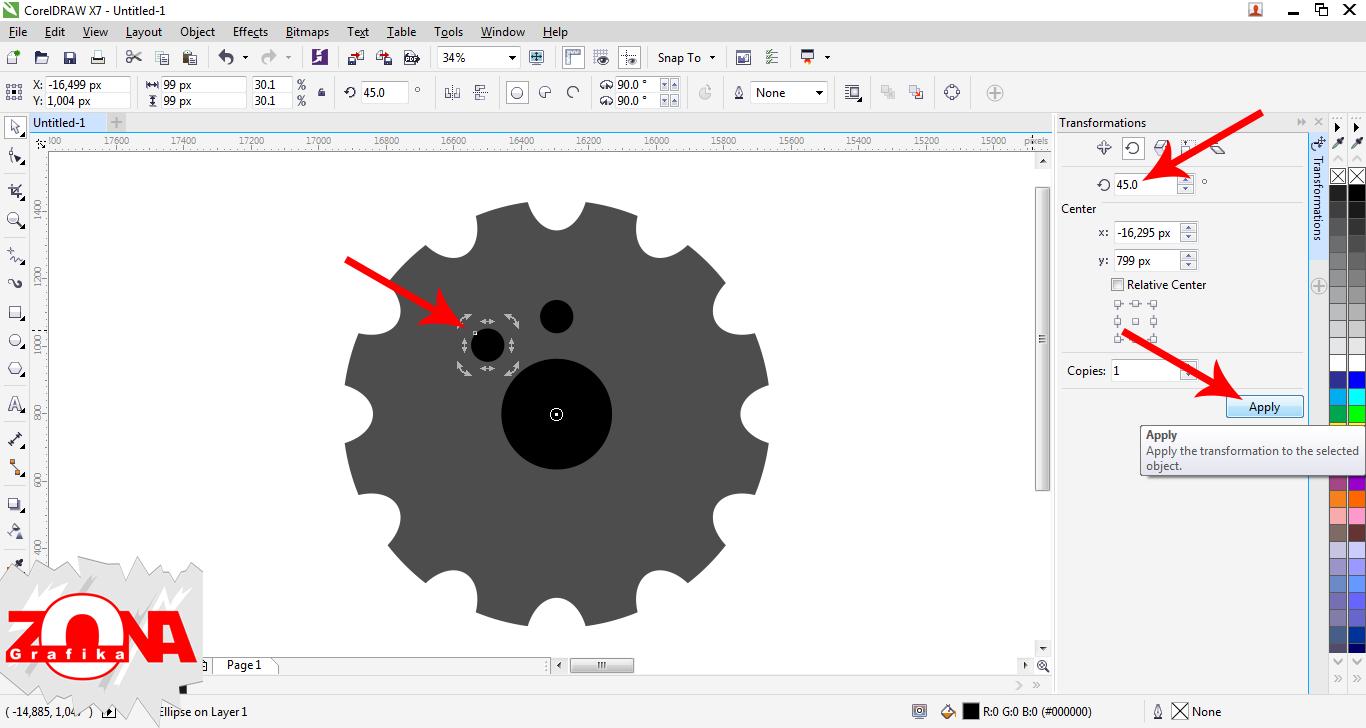 Cara Membuat Gear Dengan Corel Draw X7 ~ Belajar Desain Grafis
