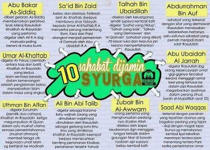 10 Sahabat Nabi yang Dijamin Masuk Surga