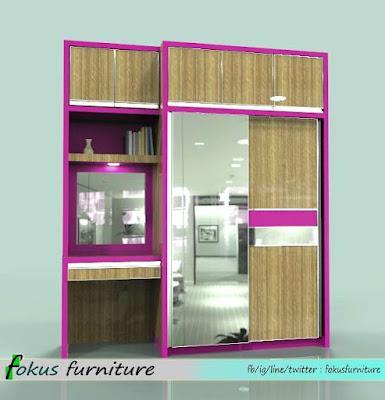Gambar desain Lemari dan meja rias built in