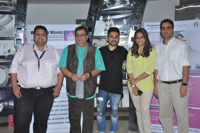 Left to Right Chaitanya , Subhash Ghai, Vir Das, Meghna Puri, Rahul puri