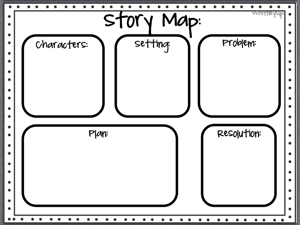 Blank Story Map Template Sketch Coloring Page