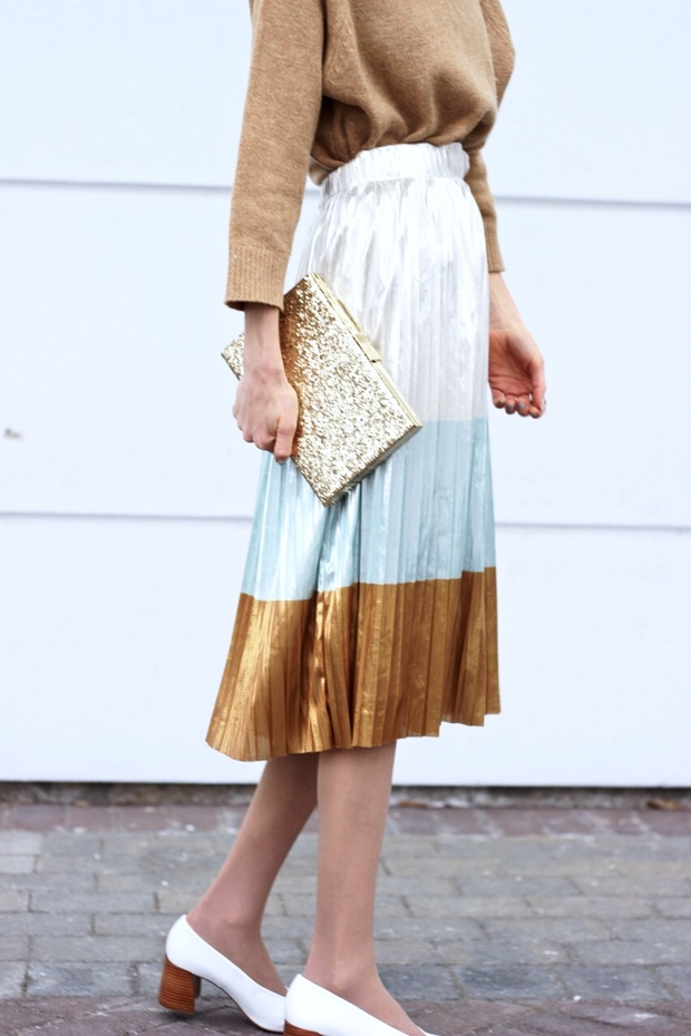 Zara metallic skirt, Zara leather white heels, How to plan a housewarming party