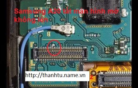 SAMSUNG A20 Tắt màn hình bật không lên