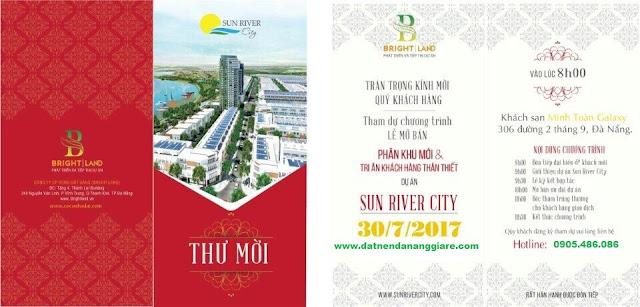 thư mời sự kiện mở bán dự án sun river city đà nẵng