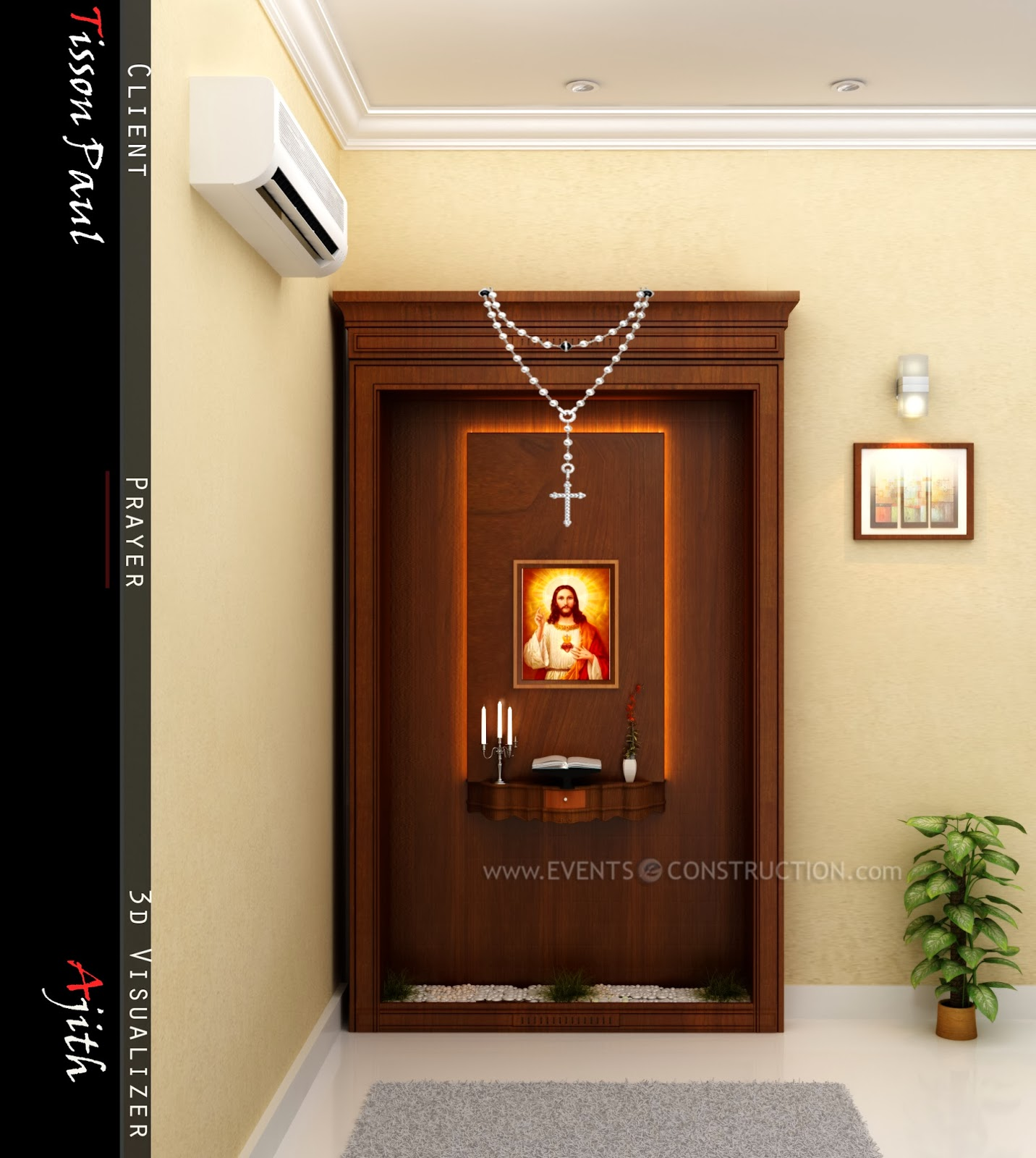 Styles Of Homes In Our Area: Evens Construction Pvt Ltd: Prayer Area
