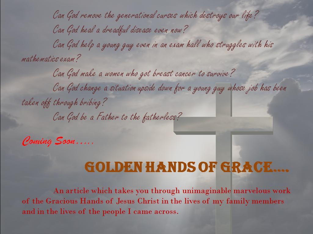 GOLDEN HANDS OF GRACE: May 2012