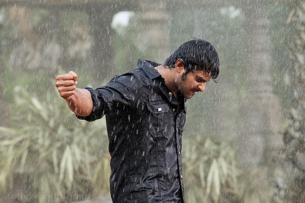 Prabhas In Mirchi: Rebel Star Prabhas Pics From Mirchi Rain Fight Sequence