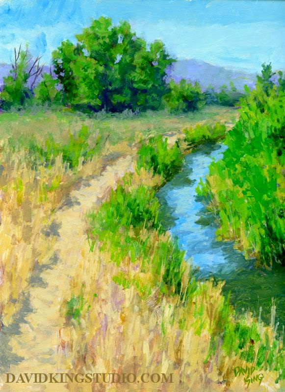 art painting landscape acrylic ditch trail outdoors