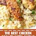 The Best Chicken Scampi with Garlic Parmesan Rice #chickenscampi #chickenrecipes