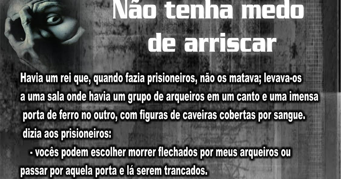 Frases FJU-PA: NÃO TENHA MEDO DE ARRISCAR