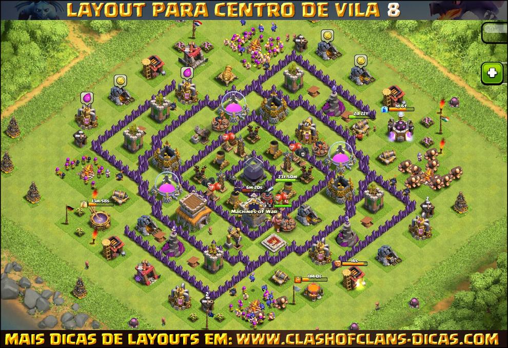 Layouts de centro de vila 8 para clash of clans
