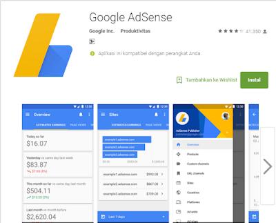 Aplikasi Android Untuk Memantau Penghasilan Iklan Google Adsense