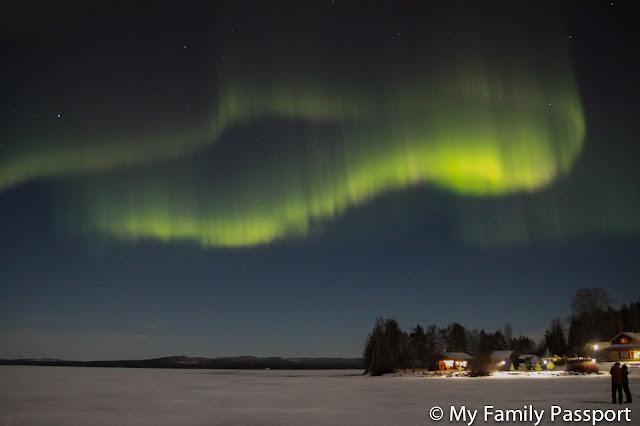 Ver aurora boreal niños