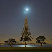 Comet PanSTARRS, Moon, and Venus