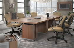 Global Total Office Powered Conference Table