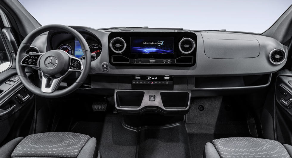 New mercedes benz sprinter interior revealed on sale next for New mercedes benz sprinter
