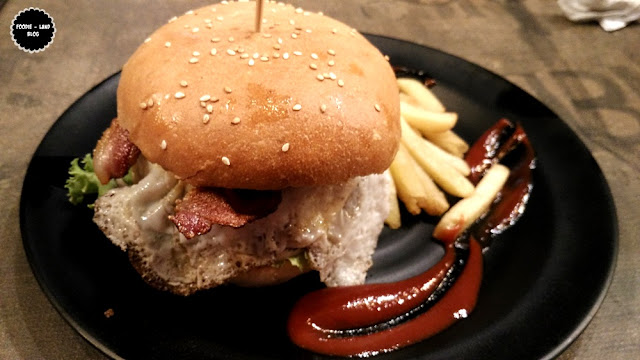 Lamb Burger with Crispy Bacon @ My Cousin's Place Version 2.0 | HSR | Bangalore