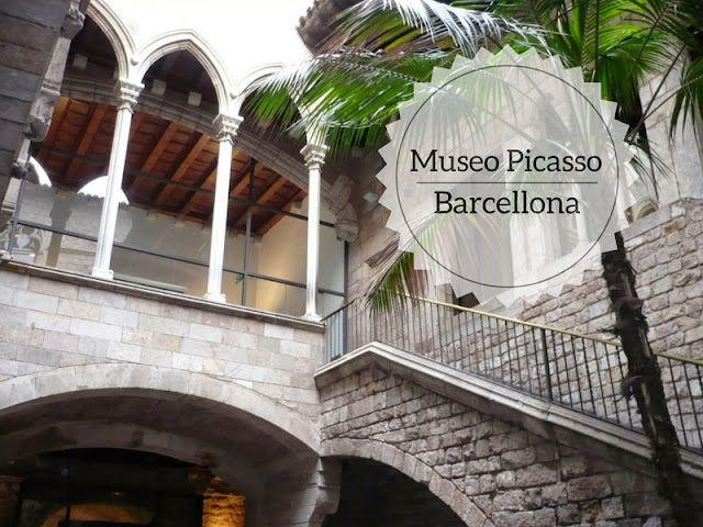 La visita al Museo Picasso di Barcellona. Il cortile interno