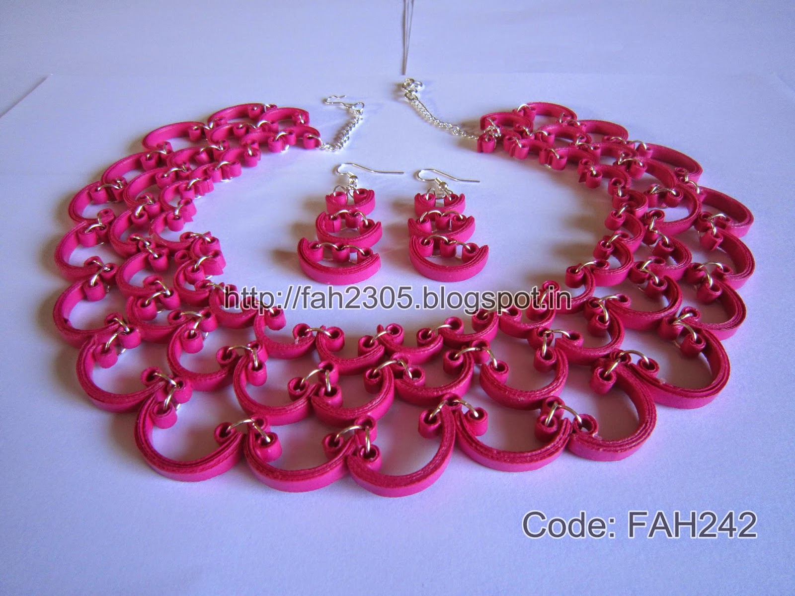 f48748a4d Quilling Earrings: Fah Creations: Paper Quilling Earrings And Necklace ...