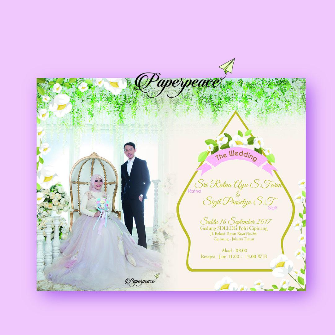 paperpeace: E invitation with prewedding invitation