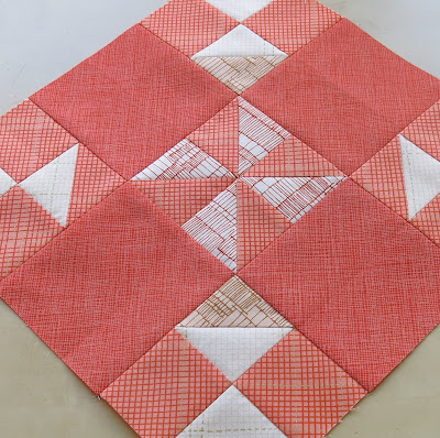 HST Quilt-Along - Blocks #13 - Turnstile - Carolyn Friedlander fabrics
