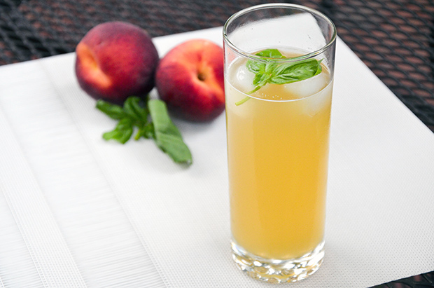Peach Basil Spritzer Recipe