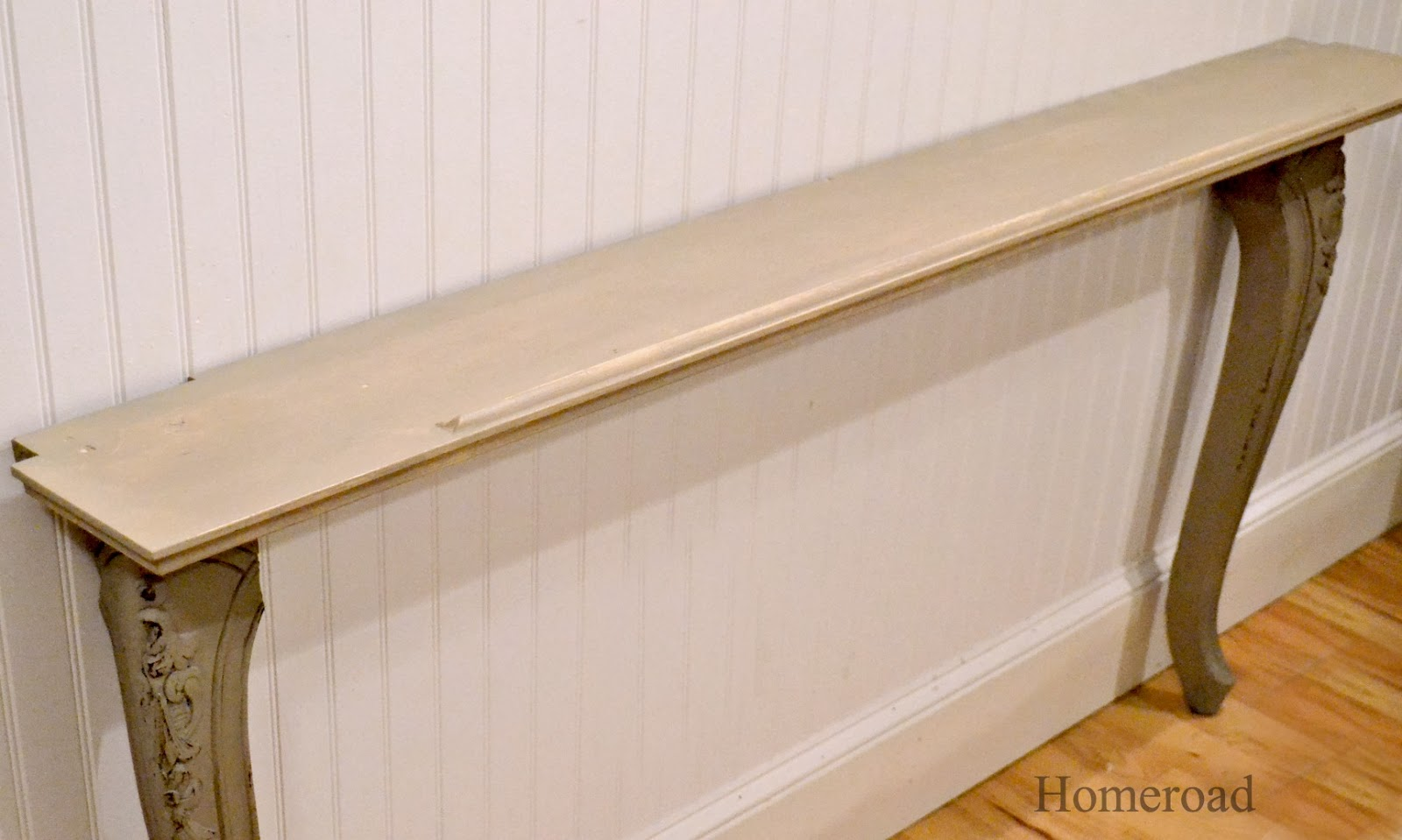 Narrow Corner Table Diy Narrow Wall Or Sofa Table Homeroad
