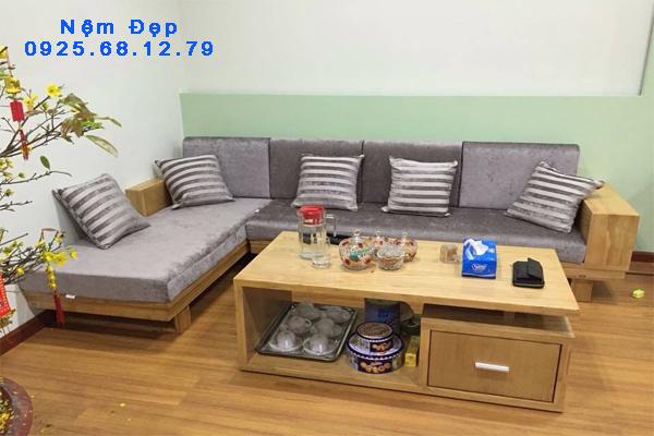 bọc nệm ghế sofa gỗ 05