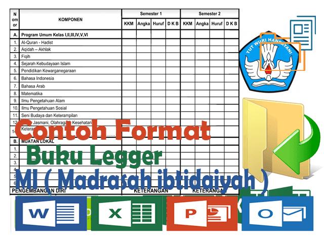 Contoh Format Buku Legger MI ( Madrasah Ibtidaiyah )