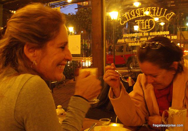Comer em La Paz, Bolívia, Café Blueberry's