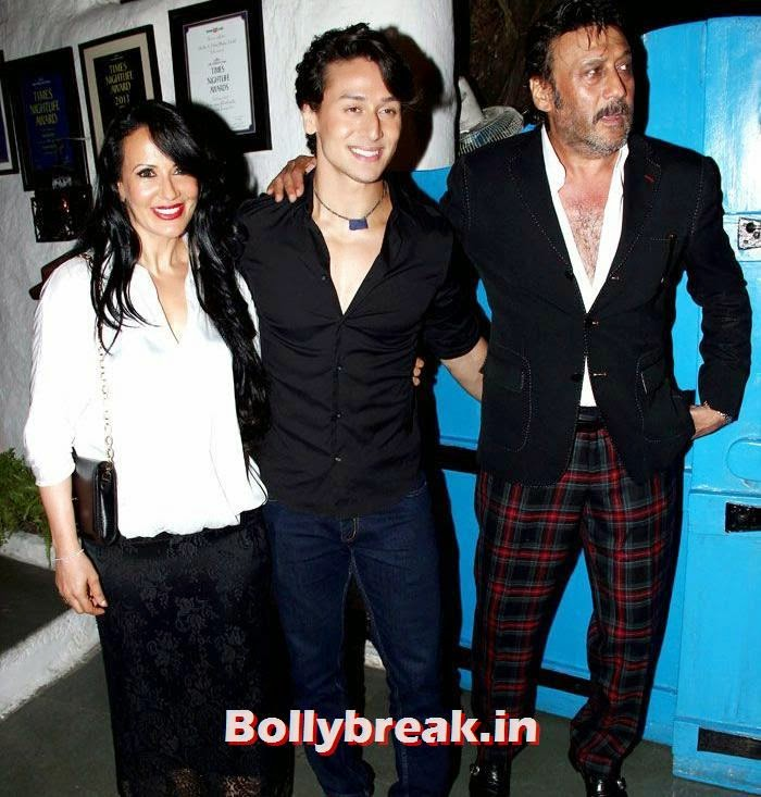 Ayesha Dutt, Tiger Shroff, Jackie Shroff, Heropanti Success Party