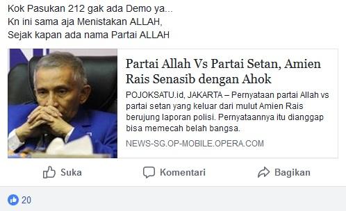 Partai Allah vs Partai Setan