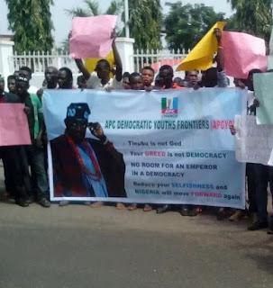 APC youth protest against tinubu