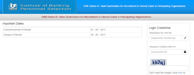 IBPS Clerk VI Result Out - Check Now - SSC Officer