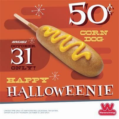 News Wienerschnitzel 50 Cent Corn Dogs On Halloween Brand Eating