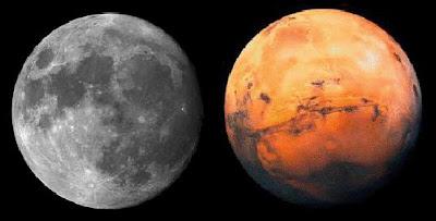 August in Luna lui Marte