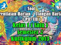 Kisi - Kisi dan Soal Ulangan Harian, PAS/UKK &  PTS/UTS  Semester 2 SD/MI Kurikulum 2013