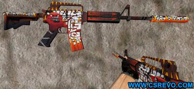 Skin M4A1 - HellFire - HD CS 1.6, m4a1 m4 a1, skins