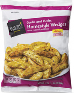 Stock image of Season's Choice Garlic and Herbs Homestyle Wedges, from Aldi
