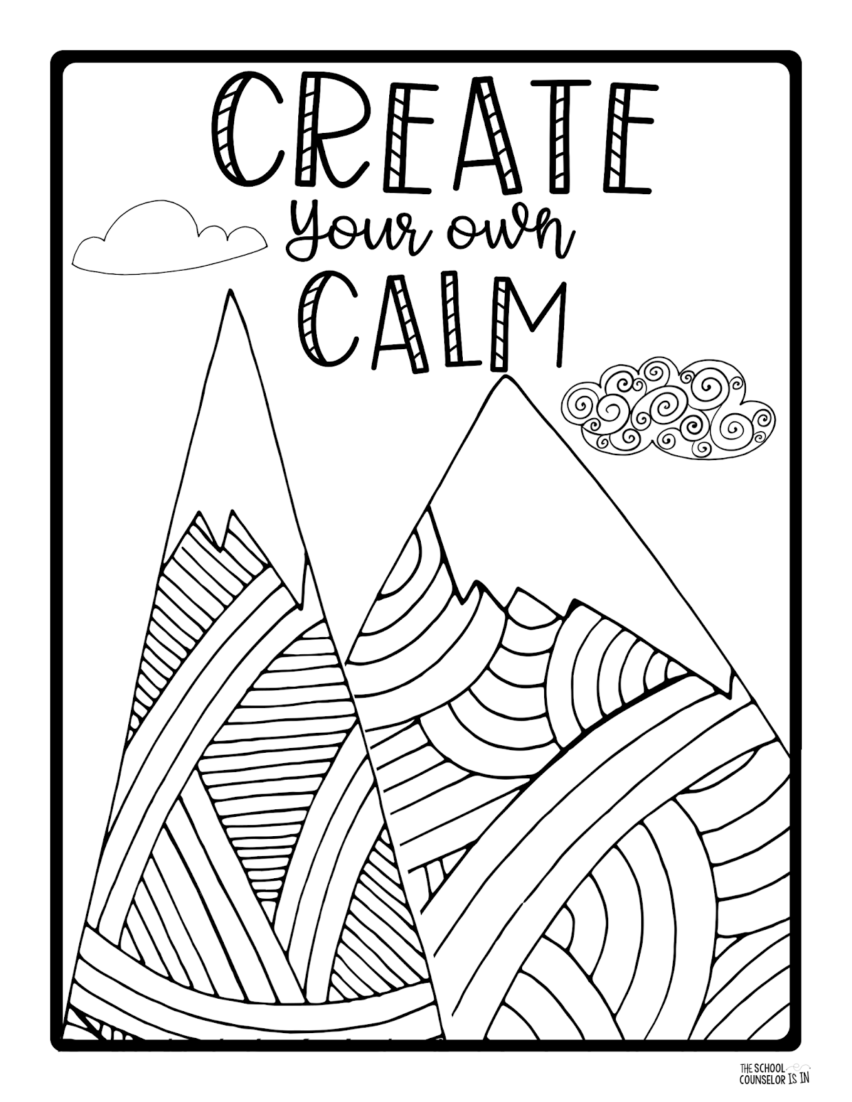 The School Counselor Is In: Mindfulness Coloring Sheets