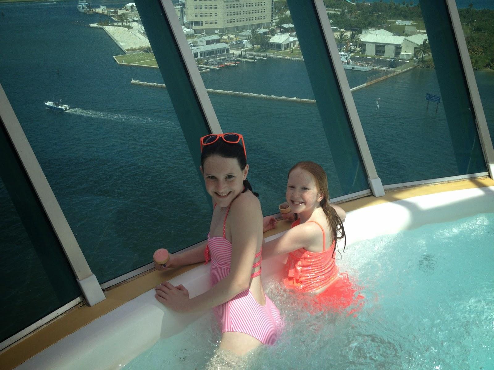 Girls on cruise ship