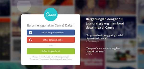 web online untuk brosur serta logo