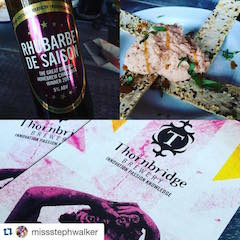 Smoked Salmon Paté paired with Rhubarbe de Saison beer from Thornbridge Brewery