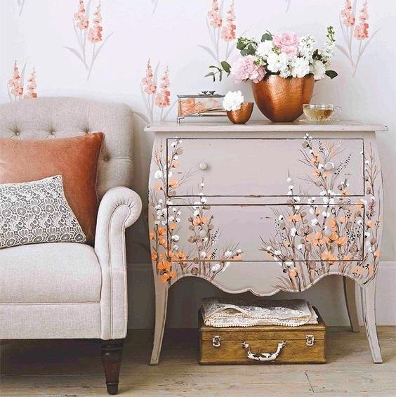 3d Wallpaper Uk Kufer Z Artystycznym Rękodziełem Decoupage