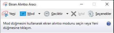 ekran görüntüsü kaydetme